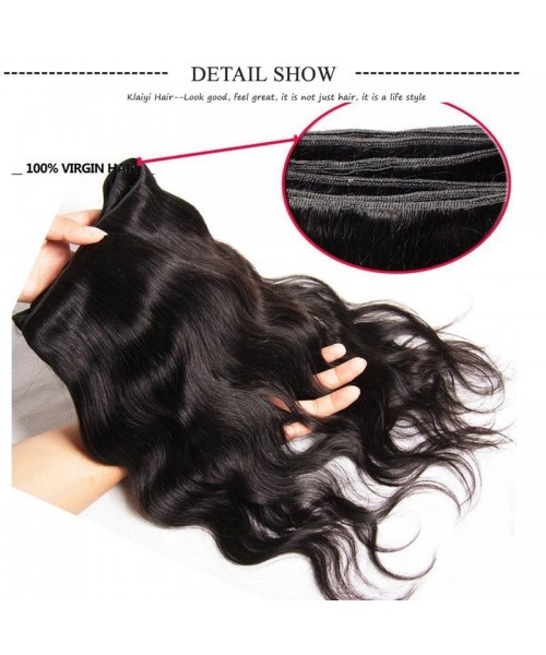 HJ Beauty Malaysian Body Wave Free Part 4x4 Closure With 3