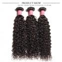 HJ Beauty 3 Bundles Brazilian Virgin Curly Human Hair Weft Deals Jerry Curly