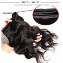 HJ Beauty Hair 3 Bundles Peruvian Body Wave Virgin Hair 100% Unprocessed Human Hair Extension Deals