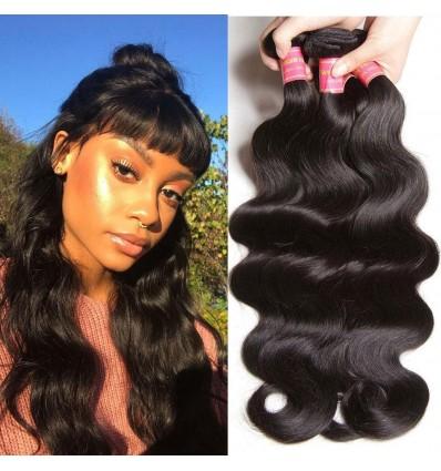 HJ Beauty Brazilian Hair Body Wave Human Virgin Hair Weft 3 Bundles pack