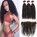 HJ Beauty Malaysian Curly Hair 3 Bundles with Ear to Ear 13*4 Lace Frontal Closure