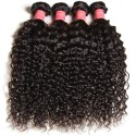 3 Bundles Peruvian Jerry Curly Virgin Human Hair Weave Natural Color HJ Beauty Hair