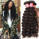 Brazilian Deep Wave 3pieces pack Unprocessed Human Virgin Hair Natural Color