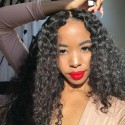 7A Grade Indian Deep Wave 4 Bundles with Lace Closure Deals HJ Beauty Hair
