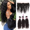 HJ Beauty Brazilian Deep Wave Frontal with 3 Bundles Virgin Human Hair