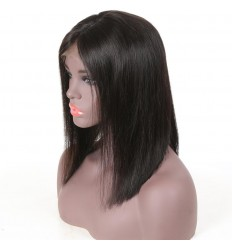 Bob Wig Straight Short Lace Frontal Human Hair Wigs For Black Women Pre Plucked With Baby Hair Remy Hair