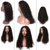 Lace Frontal Human Hair Wigs Curly Lace Wig Pre Plucked With Baby Hair Black Color
