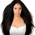 Lace Frontal Kinky Straight Wig Front Plucked With Baby Hair Remy Brazilian Human Hair Wigs