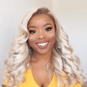 Brazilian Body Wave Blonde Hair Weaves 613 Color 3 Bundles 100% Remy Human Hair Weave HJ Beauty Hair