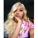 Brazilian Body Wave Blonde Hair Weaves 613 Color 3 Bundles 100% Remy Human Hair Weave HJ Beauty Hair