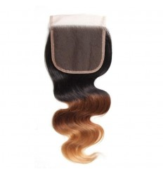 Human Hair Lace Closure 4x4 Body Wave Hair Closure HJ Beauty Hair