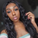 Indian Loose Wave  3 Bundles with 13x4 Ear to Ear Lace Frontal Closure HJ Beauty Hair