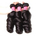 Peruvian Loose Wave 3 Bundles with 13x4 Ear to Ear Lace Frontal Closure