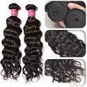 HJ Beauty Malaysian Natural Wave hair 3 Bundles with Lace Closure Unprocessed Human Virgin Hair