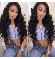 HJ Beauty 7A 4 Bundles Brazilian Natural Wave Virgin Hair with lace Closure Human Hair Extension