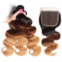Body Wave Human Hair 3 Bundles with Lace Closure