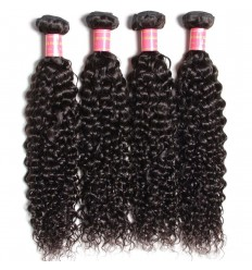 HJ Beauty Brazilian Jerry Curly Virgin Hair Weaves 4 pcs pack