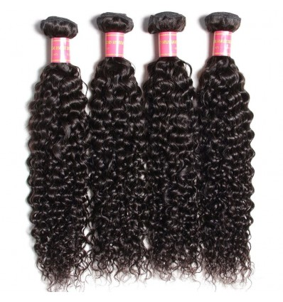 HJ Beauty Brazilian Jerry Curly Virgin Hair Weaves 4 pcs pack