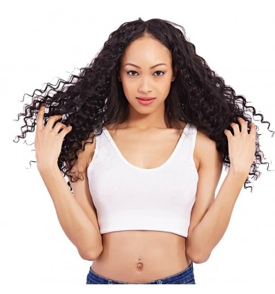 Malaysian Deep Wave Curly Hair 3 Bundles with 4x4 Lace Closure HJ Beauty Hair