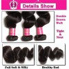 HJ Beauty Malaysian Loose Wave Human Virgin Hair 3 Bundles Unprocessed Malaysian Hair Extensions