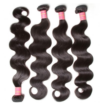 HJ Beauty 7A Malaysian Body Wave Virgin Human Hair Bundles 4 pieces pack