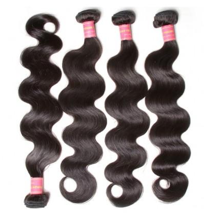 HJ Beauty 7A Malaysian Body Wave Virgin Human Hair Bundles 4 pieces pack
