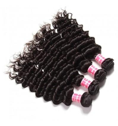 Malaysian Deep Wave Curly Hair 4 Bundles HJ Beauty Hair