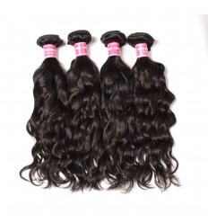 Peruvian Virgin Natural Wave 4 Bundles Human Hair Weaves