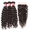 Peruvian Deep Wave 3 Bundles with 4x4 Lace Closure Deals HJ Beauty Hair