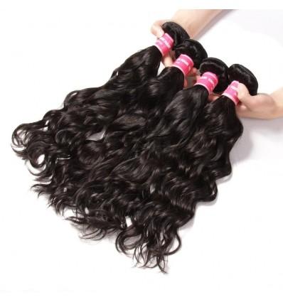 Brazilian Virgin Natural Wave 4 Bundles Human Hair Weaves