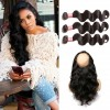 Malaysian Body Wave 360 Lace Frontal Closure with 3 Bundles Virgin Human Hair Weaves HJ Beauty Hair
