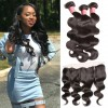 HJ Beauty Malaysian Body Wave 3 Bundles with Ear To Ear Lace Frontal Closure 100% Virgin Human Hair Weave Bundles