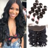 HJ Beauty Brazilian Virgin Body Wave Hair Bundles With Lace Frontal Hair Closure