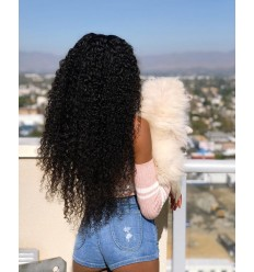 Peruvian Curly Hair 4 Bundles with Lace Frontal Closure