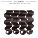 HJ Beauty Peruvian Body Wave 3 Bundles with Ear To Ear Lace Frontal Closure